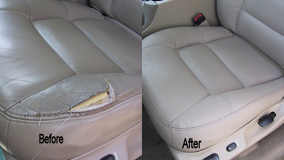 auto leather or cloth repair  u0026 replacement